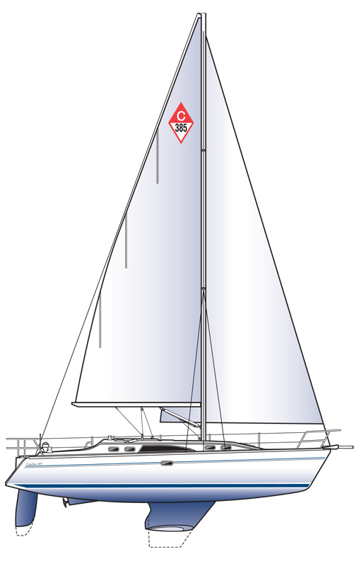 Catalina 385 - 385_line_drawing.jpg